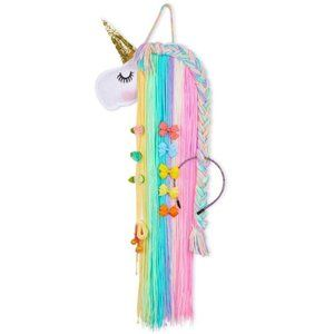 Unicorn Shy Face Tassels Hair Clips Holder Deco